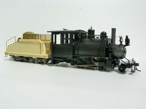 RTR 2-6-0ST with woodburning stack and Backwoods tender (not included)