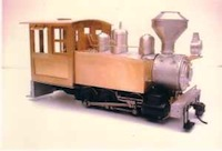 0-6-0 side tank with rear-entry cab and woodburner stack