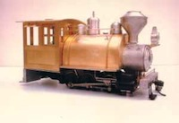 0-6-0 saddle tank with rear-entry cab and woodburner stack